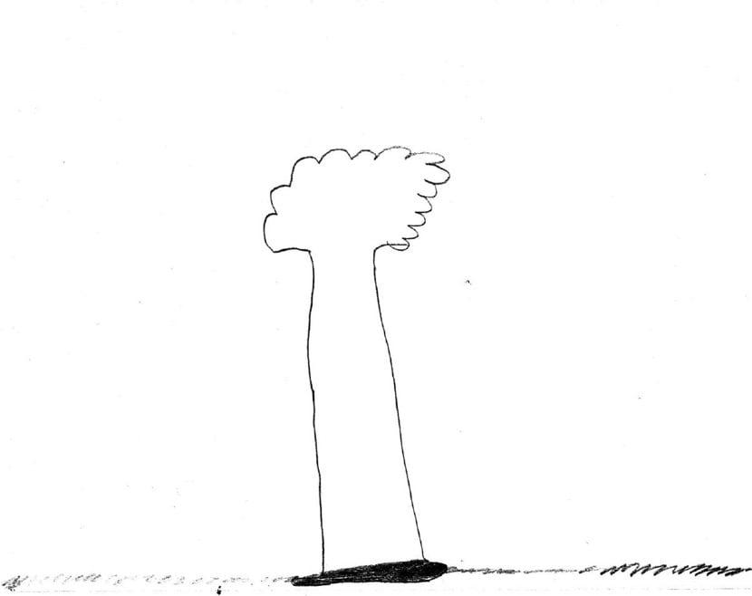 arbol simple dibujado