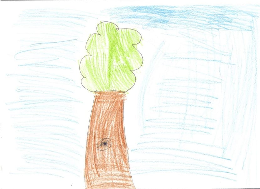 arbol infantil pintado