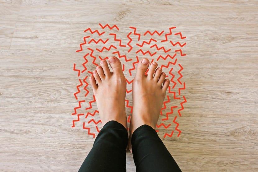 parestesias en los pies