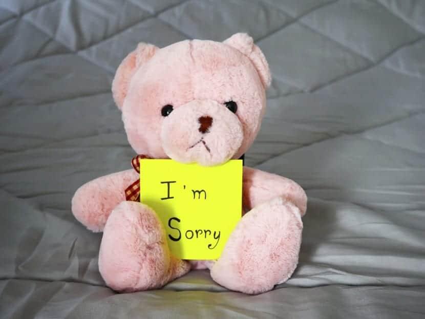 objeto robado y disculpa